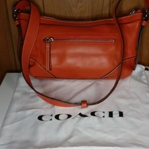 Coach shoulder bag salmon color
